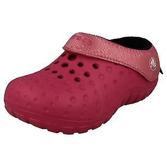 Slip Crocs dziewczyny na muły - styl - Tembo Polartec dzieci