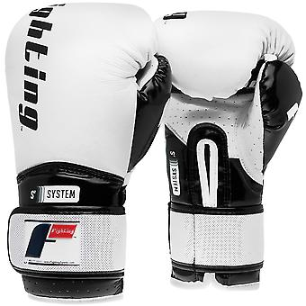 Fighting Sports S2 Gel Boxing Power Training Gloves - White/Black