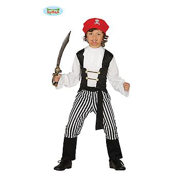 Stribet Pirate kostume pirat kids kostume Bucanero