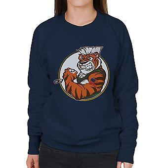 Oog van de straat Tiger Guile Fighter Women's Sweatshirt