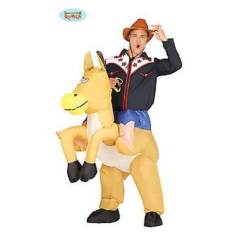 Cowboy Pferd Tragekostüm  Kostüm Reiter Pferd aufblasbar mit Motor Huckepack Kostüm