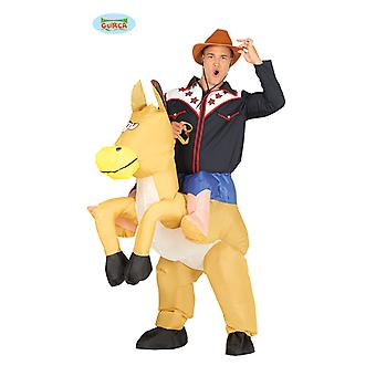 Cowboy horse wearing costume costume riding horse inflatable motor piggyback costume