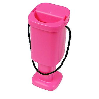 5 Square Charity Money Collection Boxes - Pink