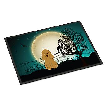 Halloween enge poedel Tan Indoor of Outdoor Mat 24 x 36