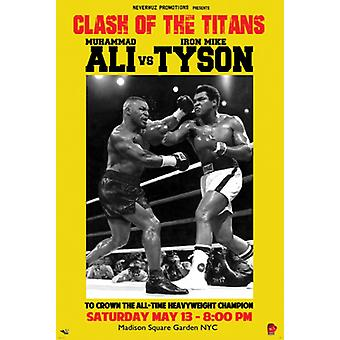 Muhammad Ali vs Mike Tyson plakat Print (12 x 18)