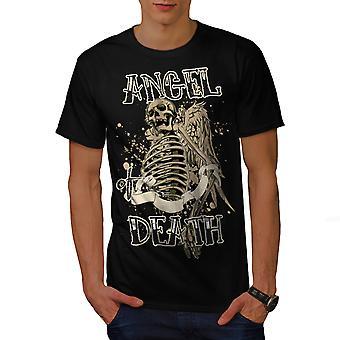 Anioł śmierci Gotyk czaszka mężczyzn BlackT-shirt   Wellcoda