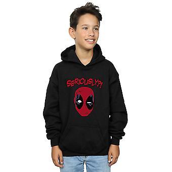 Jungen Deadpool ernsthaft Staunen Hoodie
