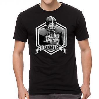 Married With Children Touchdown Bundy Men's Black T-shirt
