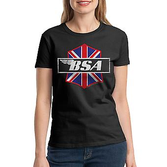 BSA Motorcycles Patch Attack Women's Black T-shirt
