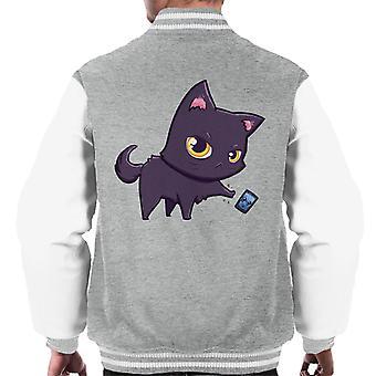 Cat Hates Smartphones Men's Varsity Jacket