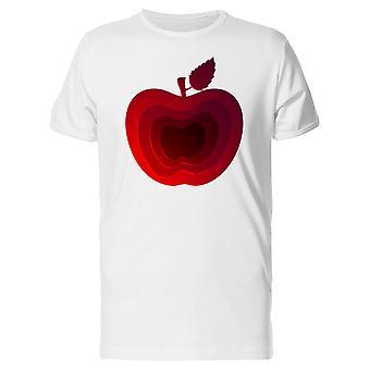Modern Art Red Apple Tee homme-Image de Shutterstock