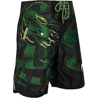 Venum Green Viper Lightweight Drawstring Closure MMA Boardshorts - Black/Green