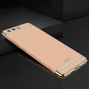 Celular capa case para Huawei P9 para-choques 3 em 1 tampa cromo shell caso ouro