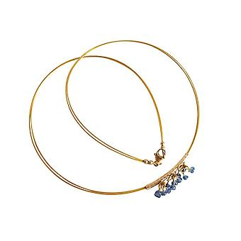Collier LILLI Saphire necklace for ladies necklace with pendant gold plated