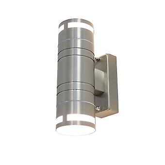 Lampa efektowa lampa ścienna Finn ze stali nierdzewnej UpDown 2x GU10 IP44 10487
