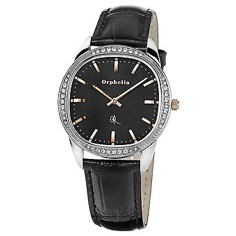 ORPHELIA Ladies Analogue Watch The Ego Black Leather 153-1712-44