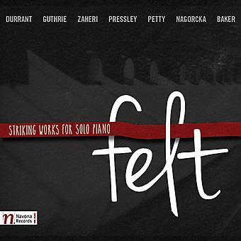 Durrant / Guthrie / Baker / Petty / Rojahn / Baker - Felt-Striking Works for Solo Pno [CD] USA import