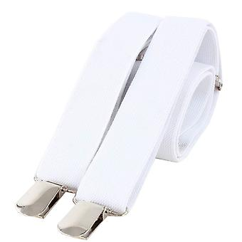 Knightsbridge Neckwear Clip on Braces - White