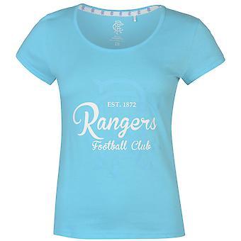 Équipe le Womens FC Crest Print T Shirt Crew Neck Tee Top, manches courtes plafonné ronde