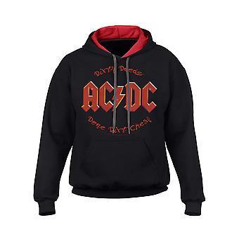 AC/DC likainen Deeds musta ja punainen Miesten huppari