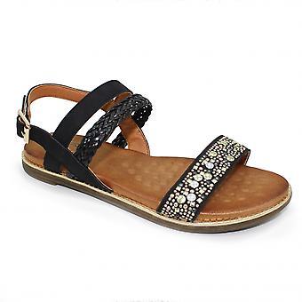 Sandalo intrecciato Stud lunare Jaya