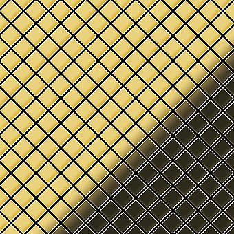 Metall mosaik mässing legering Diamond-BM