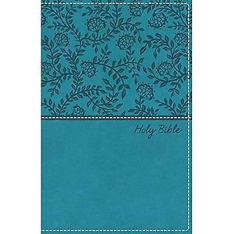 KJV, Deluxe Gift Bible, Imitation Leather, Blue, Red Letter Edition, Comfort Print