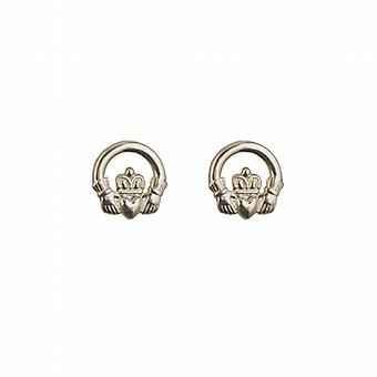 Silver 9mm Claddagh stud Earrings