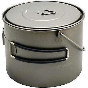 TOAKS Titanium 1300ml Outdoor Camping Cook Pot with Bail Handle POT-1300-BH