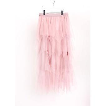 Haut Tulle hiérarchisé cintrée Midi jupe rose