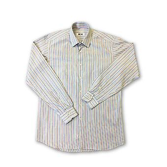 Ingram shirt in white and multi colour stripe
