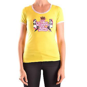 Frankie Morello Ezbc167074 Women's Yellow Cotton T-shirt