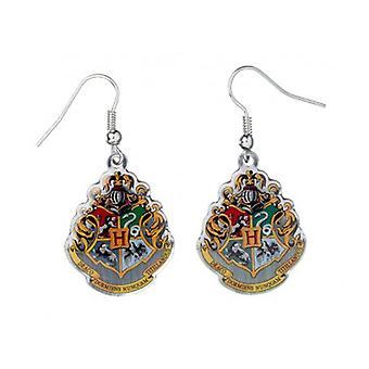 Harry Potter Silver Plüschende Hogwarts Crest Drop Ohrringe