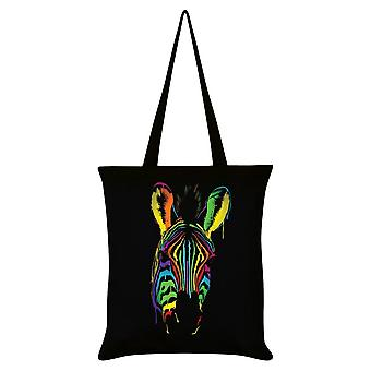 Unorthodox Collective Neon Zebra Tote Bag