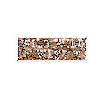 Wild West Zeichen Banner