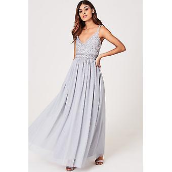 Lille elskerinne Serena Grey sequin og frill Maxi kjole