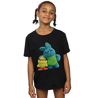 Disney Girls Toy Story 4 Ducky y Bunny camiseta