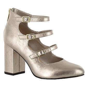Bella Vita Womens Nettie Closed Toe Ankle Strap Classic Pumps