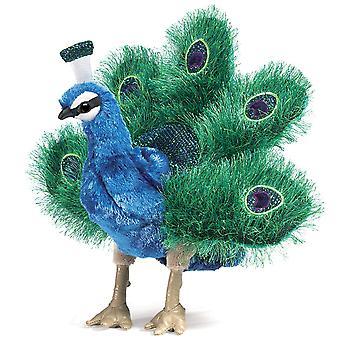 Loutka ruční-Folkmanis-Peacocková malá nová zvířata měkká panenka Plysh Toys 2834