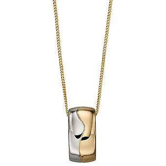 Elements Gold Barrel Pendant - Gold/Silver