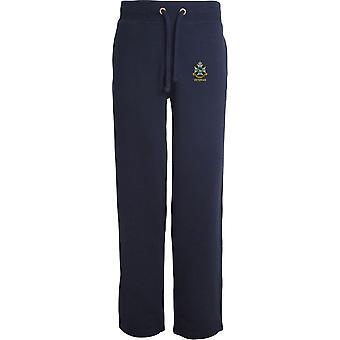 Sherwood Foresters Veteran - lizenzierte britische Armee bestickt offenen Saum Sweatpants / Jogging Bottoms