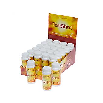 SunShot Tan Shot Sunless Skin Deep Fake Tanning Enhancing Drink - 24 x 60ml