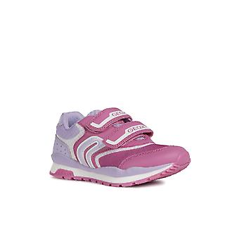 Geox Kids J Pavel Girl Touch Fastening Trainer