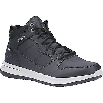 Skechers Mens Delson Mid Waterproof Leather Lace Up Chaussure