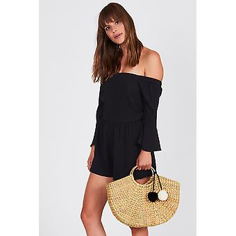 Amuse society pia romper - black