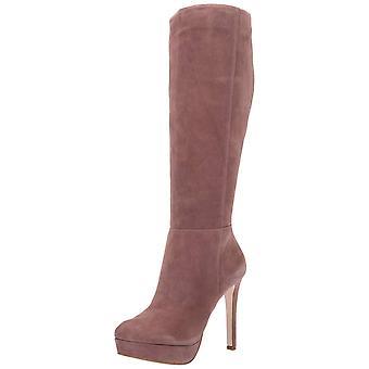 Jessica Simpson mujeres Rollin tela almendra dedo del pie rodilla botas de alta moda