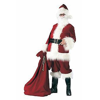 Weihnachtsmann Deluxe weinrot Nikolaus Herrenkostüm Santa Klaus Claus Herren Kostüm