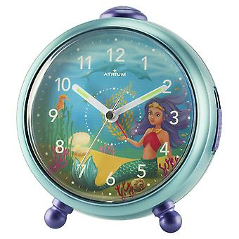 ATRIUM Children's Alarm Clock Alarm Clock Analog Quartz Mermaid Girl A932-13 Nelly