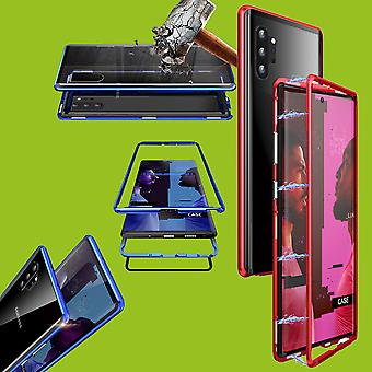 For Samsung Galaxy Note 10 N970F Magnet / Metal / Glass Case Bumper Red / Transparent Case Case New