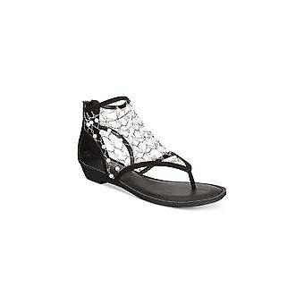 Ziginy Womens Madilyn Fabric Split Toe Special Occasion Strappy Sandals